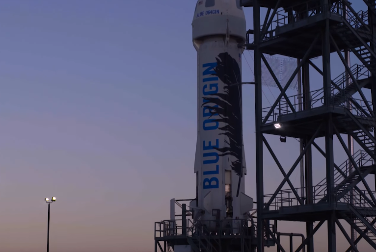 Jeff Bezos Blue Origin Reusable Rocket Video