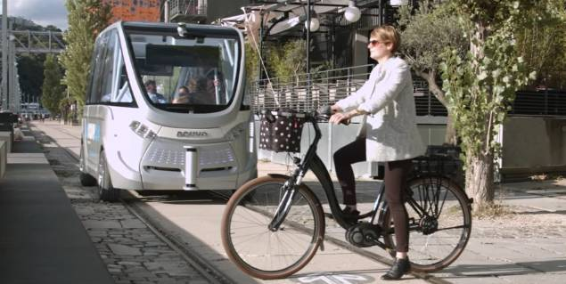 Electric Self-Driving Buses