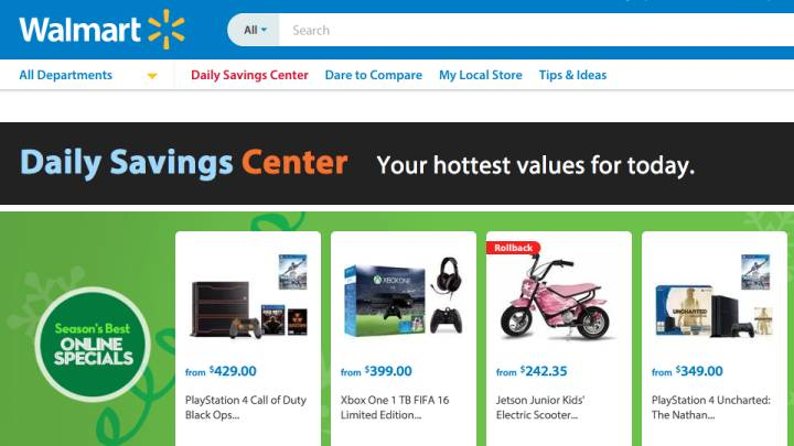 Walmart Black Friday 2015 Deals