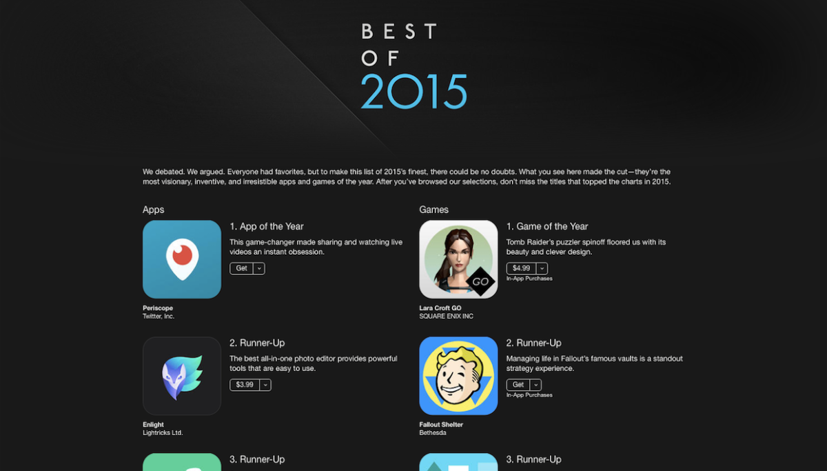 Best Apple TV Apps 2015