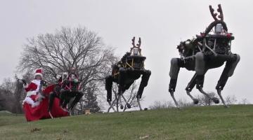 Boston Dynamics Robot Reindeer Christmas Video