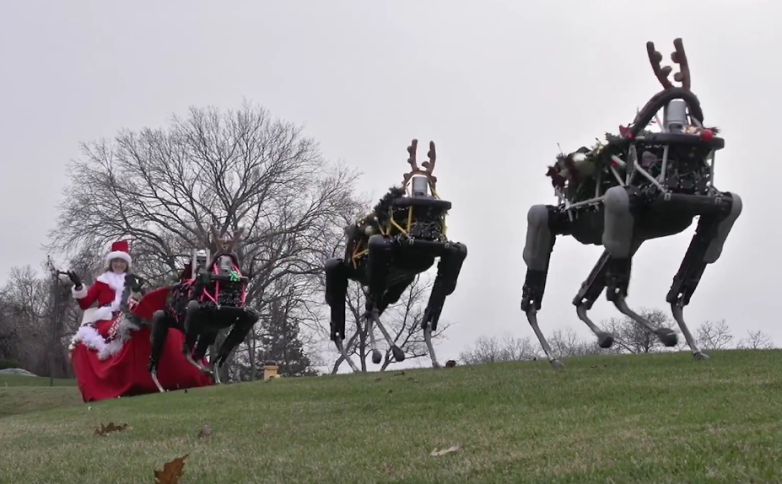 Boston Dynamics Robot Reindeer Christmas Video