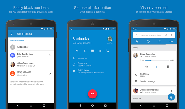 Google Android Apps Phone Contacts