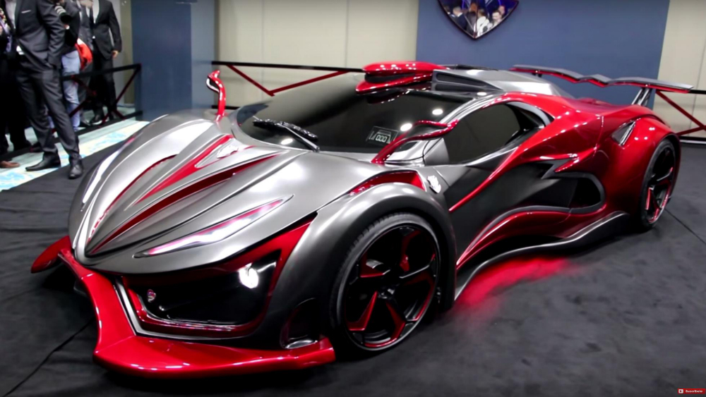 Inferno Exotic Car Stretchable Metal Body