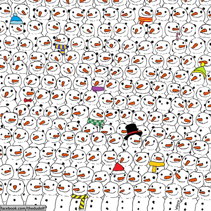 Panda Snowman Image Facebook Puzzle