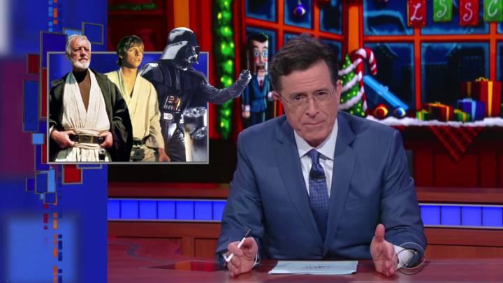 Star Wars Force Awakens Stephen Colbert