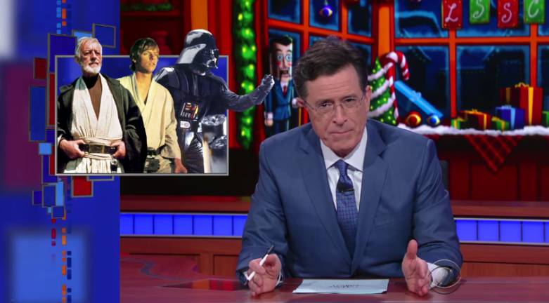 Star Wars Force Awakens Stephen Colbert