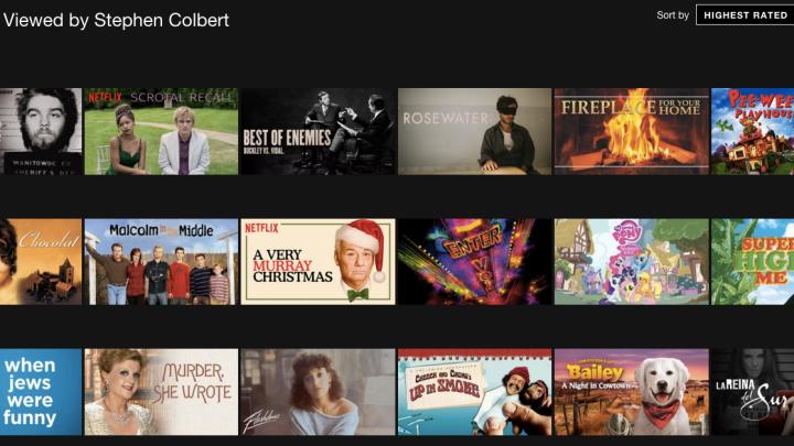 Netflix Secret Category Codes Colbert