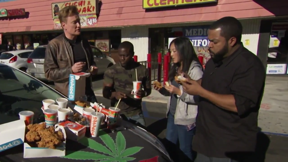 Conan Kevin Hart Ice Cube Driver's Test