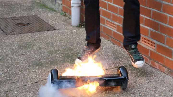 Hoverboard Catches Fire Unboxing Video