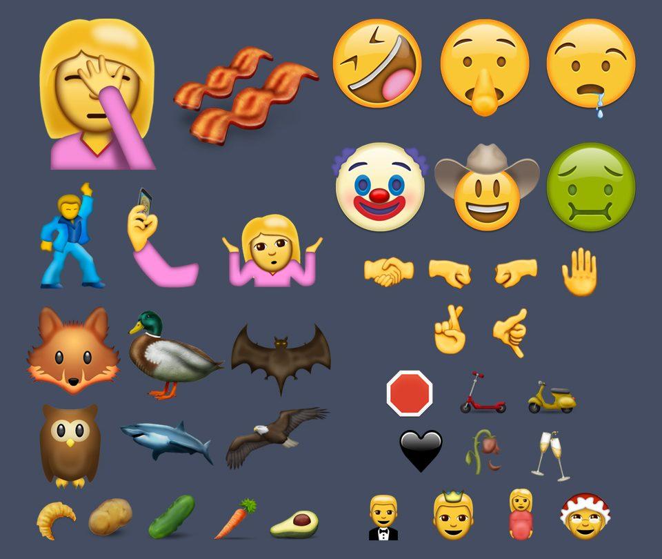 iPhone iOS 10 Unicode 9.0 Emoji Set