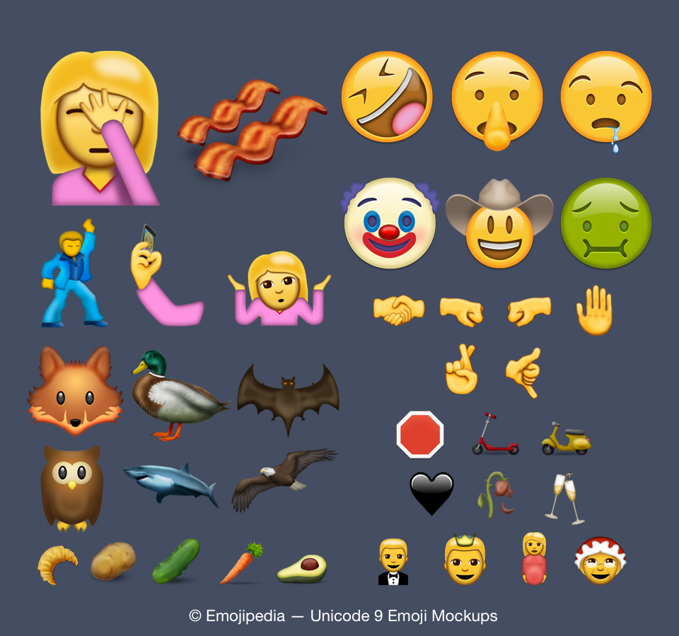 iPhone iOS 10 Unicode 9.0 Emoji Set