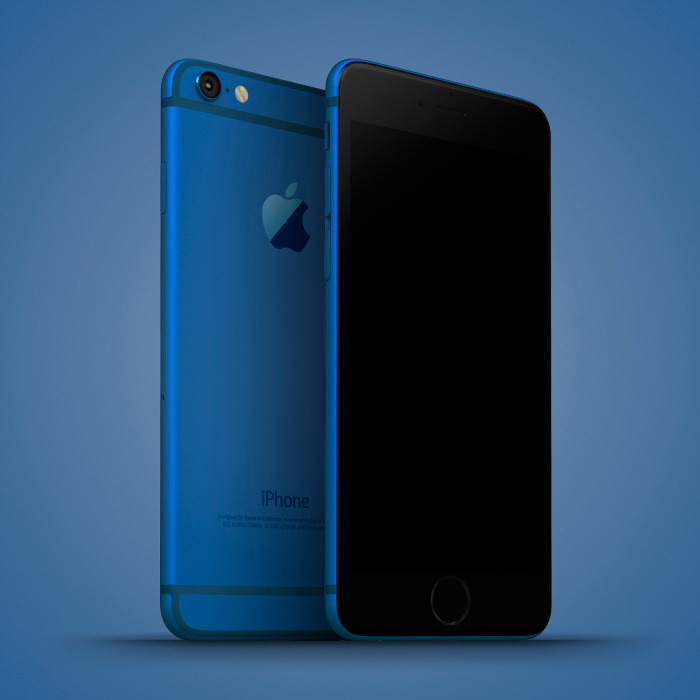 iPhone 6c Blue Mockup