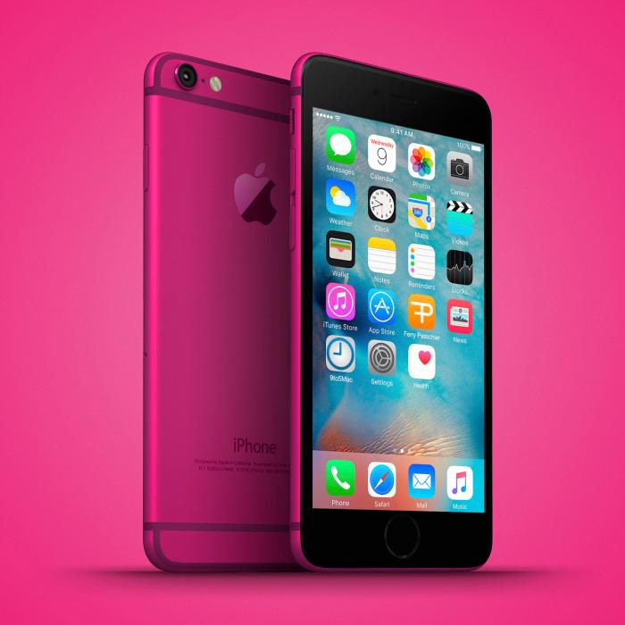 iPhone 6c Pink Mockup