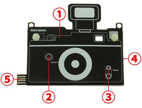 paper digital camera 6mm