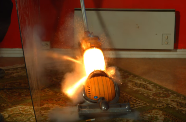Slow Motion Vacuum Cleaner Gunpowder Video