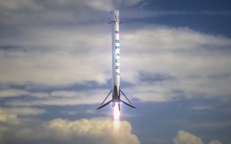 SpaceX Falcon 9 Rocket Ocean Barge Landing