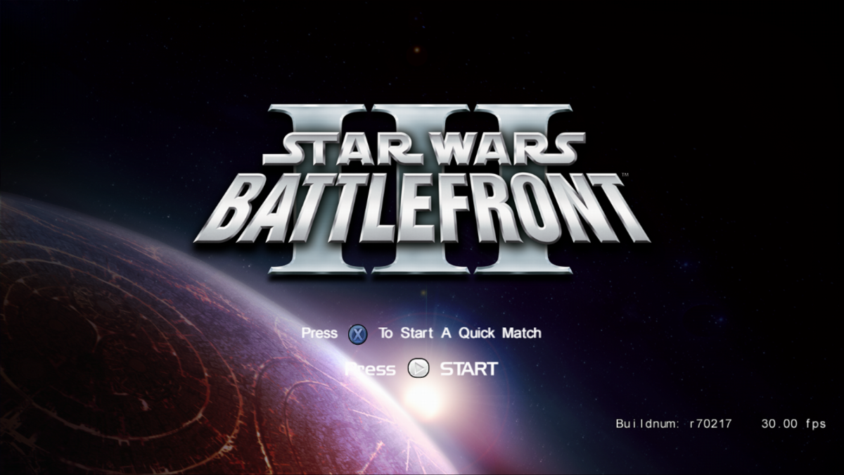 Star Wars Battlefront 3 Prototype Leak