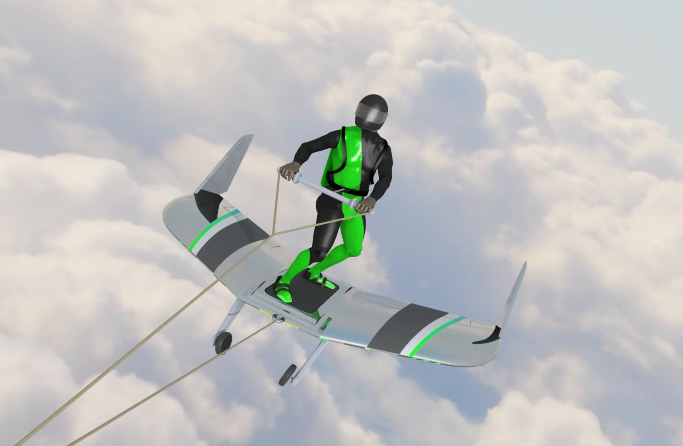 WingBoarding Wakeboarding Extreme Sport