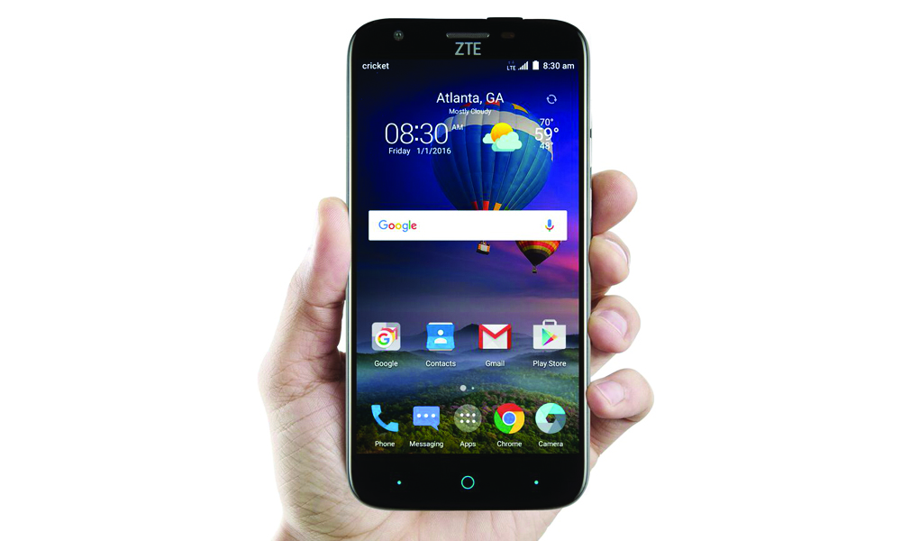 though the zte grand x phone has shown that