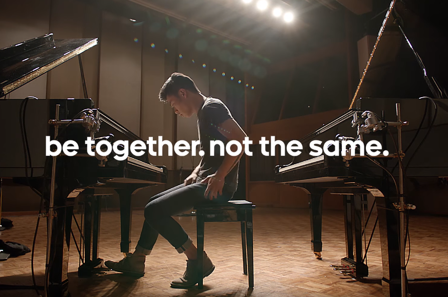 Android Be Together Not The Same Piano Ad