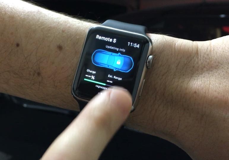 Tesla Model S Apple Watch App