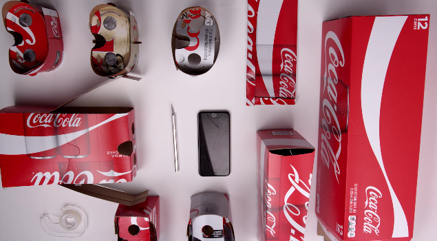 Coca-Cola Virtual Reality Cardboard iPhone