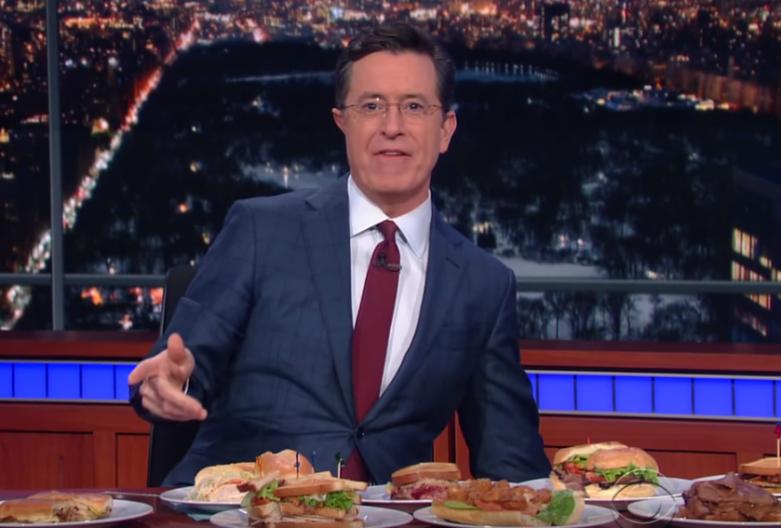 Stephen Colbert Bernie Sandwiches Video