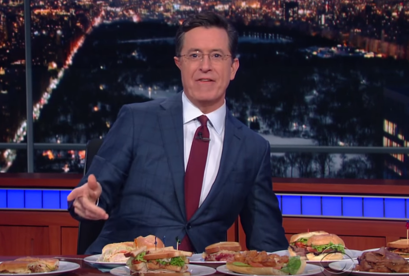 Stephen Colbert Bernie Sandwiches Video