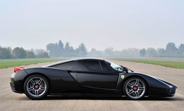 ferrari enzo black auction side view