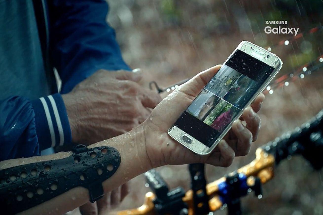 Galaxy S7 Screen Drops Waterproof
