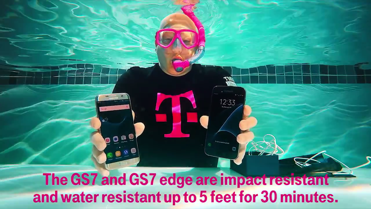 t mobile tests waterproof galaxy s7 claims with an underwater unboxing video bgr. Black Bedroom Furniture Sets. Home Design Ideas