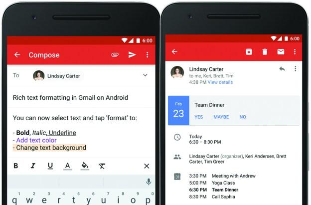 Google Gmail Update