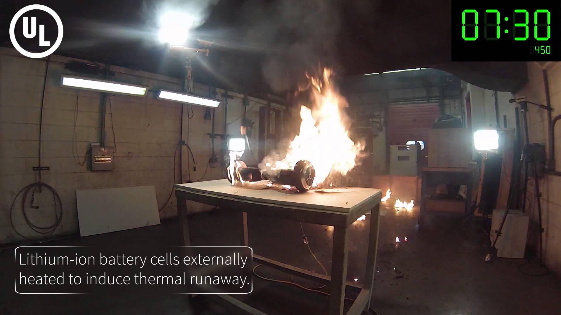 Hoverboard Fire Explosion Video