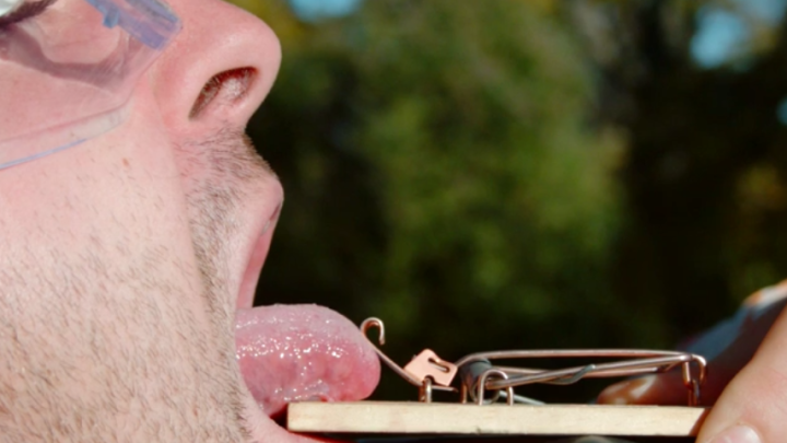Slow Mo Guys Mouse Trap Tongue Video