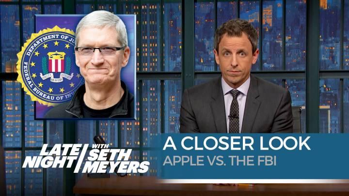 Apple vs. FBI Seth Meyers