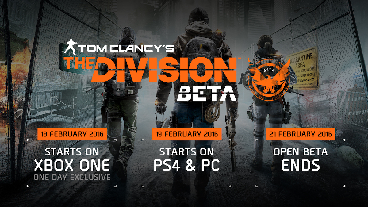 The Division Open Beta Start Time