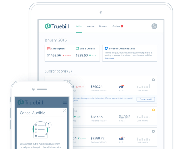 Truebill Cancels Subscriptions Saves Money