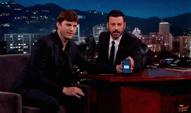 Ashton Kutcher Jimmy Kimmel