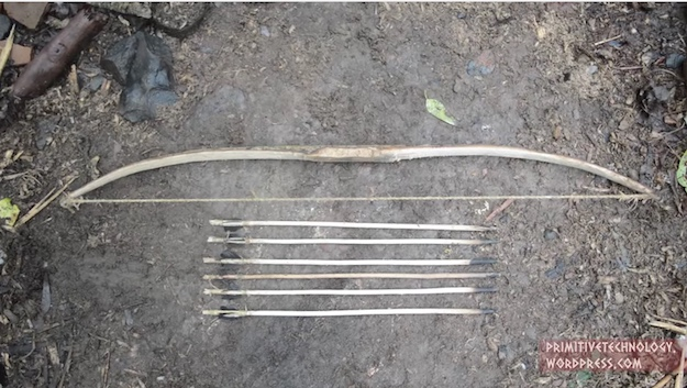 Primitive Bow And Arrow