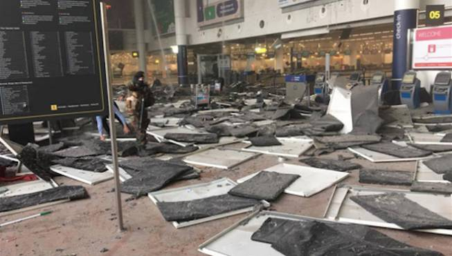 Brussels Terror Airport Explosions