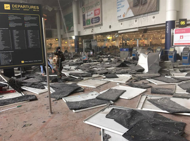 Brussels Terror Airport Explosions