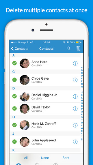 Delete Duplicates Contacts
