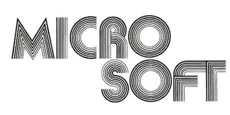 first microsoft logo