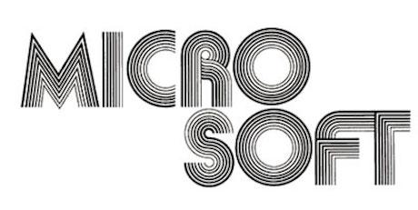first microsoft logo