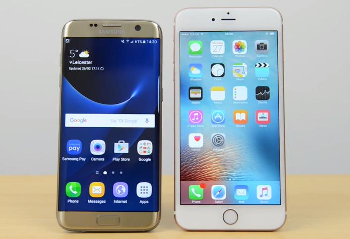 S7 Edge Vs Iphone 7 Inside
