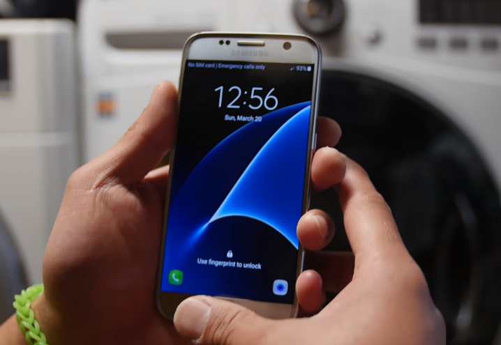 Galaxy S7 Washing Machine Test Video