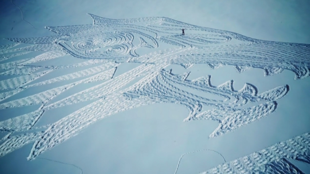Game Thrones Snow Drawing Video