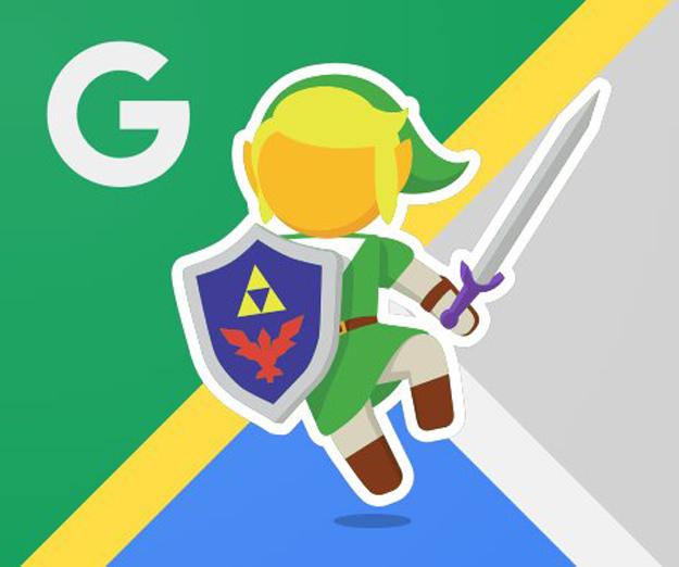 Google Maps Legend of Zelda