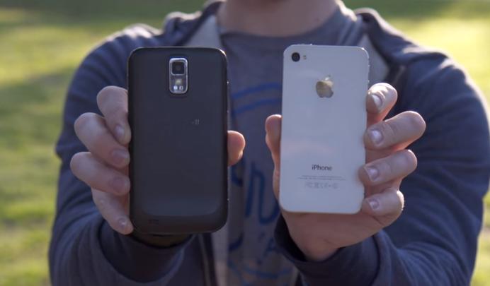 iPhone 4S Vs Galaxy S II Video